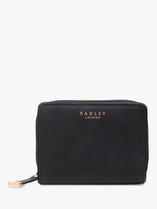 Radley Arlington Street Leather Small Zip Around Purse, Black