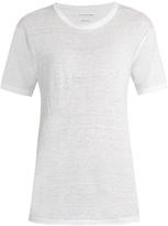 Etoile Isabel Marant Crew-neck slub-linen boyfriend T-shirt