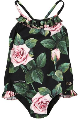 Dolce & Gabbana Rose Print Lycra One Piece Swimsuit