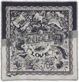 Gucci Wool silk jacquard shawl
