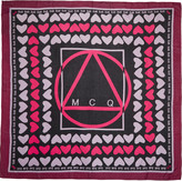 McQ by Alexander McQueen Pink Hearts Scarf