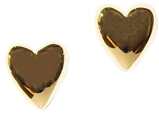 Lele Sadoughi Ashford 14K Gold-Plated Heart Stud Earrings