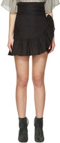 Etoile Isabel Marant Black Dempster Wrap Skirt