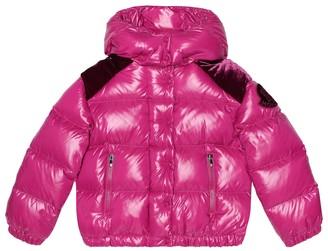 Moncler Enfant Chouette velvet-trimmed down jacket