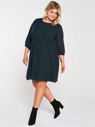 Junarose CurveBundy Check Tunic Dress - Green