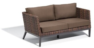 Beachcrest Home Mandeville Patio Sofa with Cushions Cushion Color: Toast