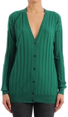 Plan C Cardigan Wool Emerald