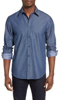 Ben Sherman Men's Mod Fit Print Chambray Shirt