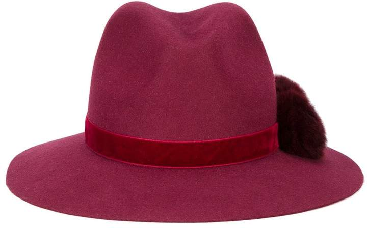 Yosuzi Valentina pom pom fedora hat