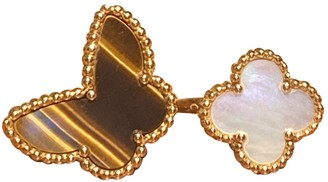 Van Cleef & Arpels Sweet Alhambra Brown Yellow gold Rings