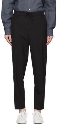 MAISON KITSUNÉ Black Wool City Trousers