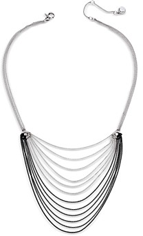AllSaints Two Tone Draped Chain Necklace, 16