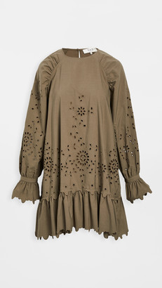 Sea Fern Eyelet Long Sleeve Tunic