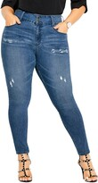 Thumbnail for your product : City Chic Baby High Waist Ripped Skinny Jeans