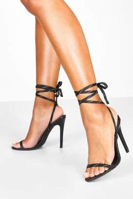 boohoo Reflective Lace Stiletto Heel 2 Parts