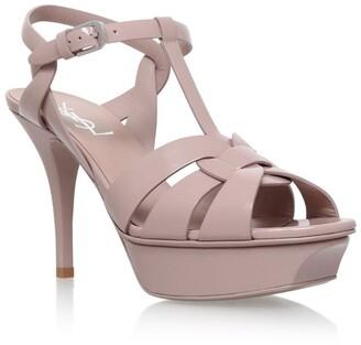 Saint Laurent Patent Tribute Sandals 75