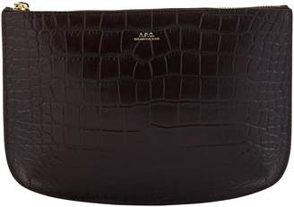 A.P.C. Sarah crocodile effect pouch