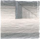 Armani Collezioni pleated zigzag scarf