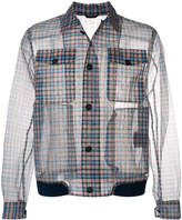 Fendi checked jacket with buttons