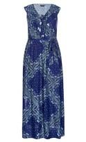 City Chic Blue Patchwork Maxi Dress