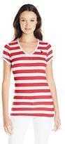 U.S. Polo Assn. Junior's Lace Trim V-Neck T-Shirt