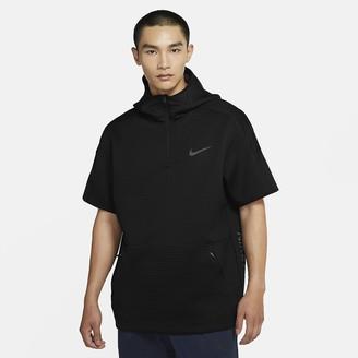 Nike Men's Short-Sleeve 1/4-Zip Hoodie Pro