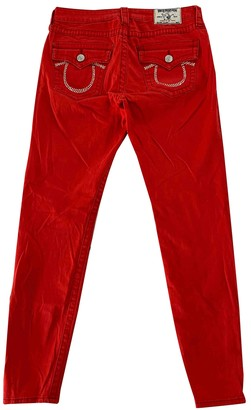 True Religion Red Cotton - elasthane Jeans for Women