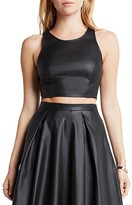 BCBGeneration Perforated Faux Leather Crop Top