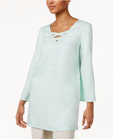 JM Collection Embellished Crisscross-Neck Tunic, Only at Macy's