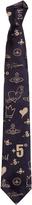 Vivienne Westwood Scribble Sketch Tie Blue/Beige One Size