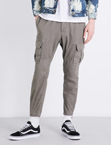 Magic Stick Tapered cotton cargo trousers