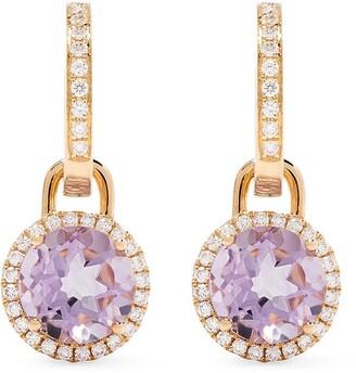 Kiki McDonough 18kt Yellow Gold Diamond Hoop Earrings
