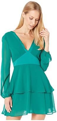 BCBGeneration Tiered Block Dress (Pine Green) Women's Dress