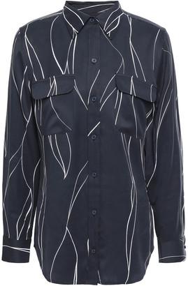 Equipment Slim Signature Printed Washed Silk-blend Shirt