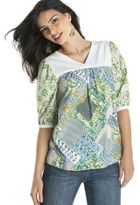 RXB Patchwork-Print Top