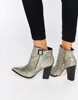 Little Mistress Harlow Glitter Heeled Ankle Boots