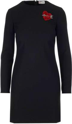 RED Valentino Heart Patch Fitted Dress