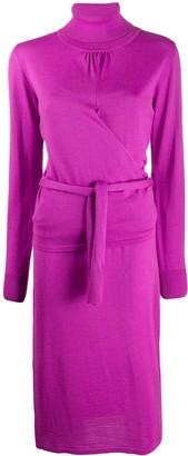 MSGM Tie-Waist Fine-Knit Dress