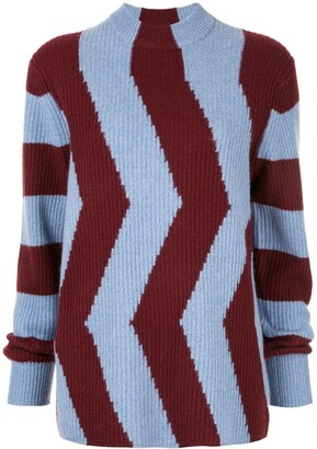 CK Calvin Klein Colour-Block Fitted Sweater