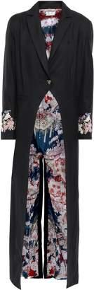 Camilla Twin Shadow Wool-twill Coat