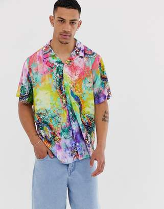 Dragon Optical Asos Design ASOS DESIGN relaxed fit tie dye shirt-Purple