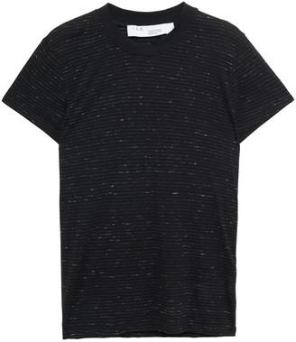 IRO Striped Melange Stretch-jersey T-shirt