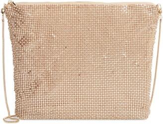 Nordstrom Crystal Embellished Mesh Shoulder Bag
