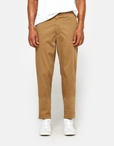Acne Studios Ayan Satin Trousers in Acorn Green