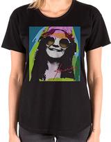 Goodie Two Sleeves Black Janis Joplin Psychedelic Tee - Women