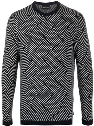Emporio Armani Contrast Striped Jumper