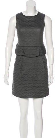 Theyskens' Theory Patterned Peplum Dress