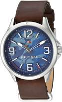 Tommy Hilfiger Men's 'SPORT' Quartz Stainless Steel and Leather Casual Watch, Color:Brown (Model: 1791334)