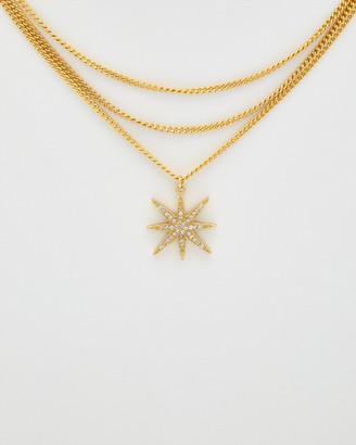 Rachel Reinhardt Star 14K Plated Cz Necklace