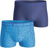 Bjorn Borg Plain Ziggy Stretch Cotton Short Trunks, Pack of 2, Blue